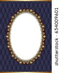 golden frame with decorative...   Shutterstock .eps vector #654009601