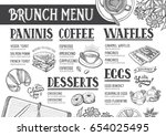 food menu for restaurant and... | Shutterstock .eps vector #654025495