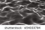 3d wave dot line illustration   Shutterstock . vector #654033784