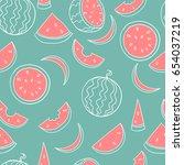 vector seamless pattern of line ... | Shutterstock .eps vector #654037219