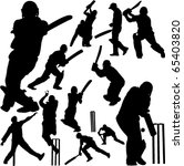 cricket players collection 2  ... | Shutterstock .eps vector #65403820