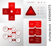 red templates for diagram ... | Shutterstock .eps vector #654044575
