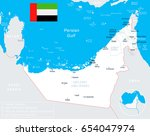 united arab emirates map and... | Shutterstock .eps vector #654047974