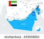 united arab emirates map and... | Shutterstock .eps vector #654048001