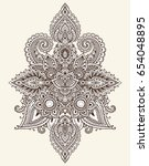 vector pattern of henna floral... | Shutterstock .eps vector #654048895