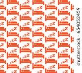 pattern background sleeping icon   Shutterstock .eps vector #654052459