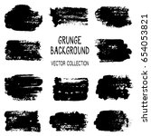 grunge brush stroke background... | Shutterstock .eps vector #654053821