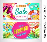 summer. | Shutterstock .eps vector #654055561