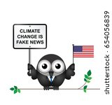 comical american climate change ... | Shutterstock .eps vector #654056839