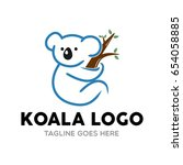 Unique Koala Logo Mascot...