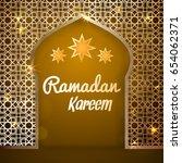 ramadan kareem greeting card.... | Shutterstock .eps vector #654062371