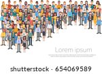 group of business people big... | Shutterstock .eps vector #654069589