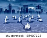 Ebusiness Social Network Concept - stock photo