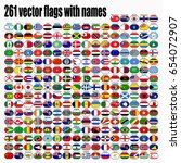 flags of the world  round icons ... | Shutterstock .eps vector #654072907