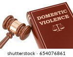 domestic violence concept with... | Shutterstock . vector #654076861
