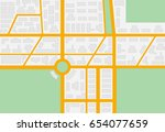 taxi service poster with map.... | Shutterstock .eps vector #654077659