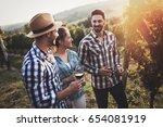 people sampling and tasting...   Shutterstock . vector #654081919