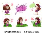 collection of hand drawn... | Shutterstock . vector #654083401