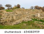 ruins in the ancient city of... | Shutterstock . vector #654083959