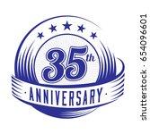 35 years anniversary design... | Shutterstock .eps vector #654096601