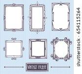 vintage frame. hand drawing.... | Shutterstock .eps vector #654115264