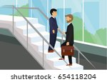 business people standing on...   Shutterstock .eps vector #654118204