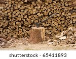 The Stack Of Wood Is The Resul...