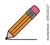 color sketch silhouette pencil... | Shutterstock .eps vector #654126127