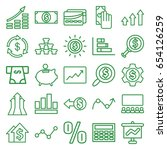 financial icons set. set of 25... | Shutterstock .eps vector #654126259
