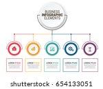 modern infographic options... | Shutterstock .eps vector #654133051