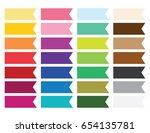 solid color half banner flag... | Shutterstock .eps vector #654135781