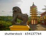Beautiful Pagoda And Dragon...