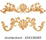 gold ornament on a white... | Shutterstock . vector #654138385