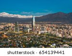 skyline of santiago de chile at ... | Shutterstock . vector #654139441