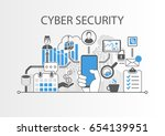 cyber security concept as