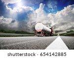 big truck on the european... | Shutterstock . vector #654142885