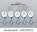 infographics template vector | Shutterstock .eps vector #654153571