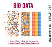 big data visualization. machine ... | Shutterstock .eps vector #654154039