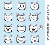 hand drawn set of black and... | Shutterstock .eps vector #654154741
