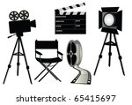 film set  vector | Shutterstock .eps vector #65415697