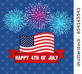 happy 4th of july  july fourth  ...   Shutterstock .eps vector #654165541