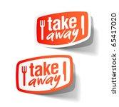 takeaway labels. vector. | Shutterstock .eps vector #65417020