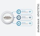 modern infographic startup... | Shutterstock .eps vector #654173761