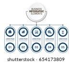 modern infographic startup... | Shutterstock .eps vector #654173809