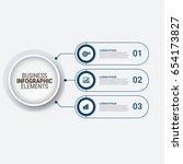 modern infographic startup... | Shutterstock .eps vector #654173827