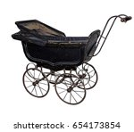 vintage dusty and damaged baby...   Shutterstock . vector #654173854