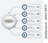 modern infographic startup... | Shutterstock .eps vector #654173977