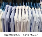 in lined shirts show their neat ... | Shutterstock . vector #654175267