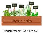 wooden crate of farm fresh... | Shutterstock .eps vector #654175561
