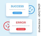 success and error message ...